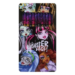 Pastelky Monster High - sada 12 ks v plechovej dóze