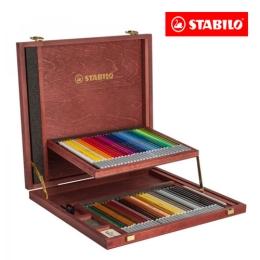 Pastelky STABILO CarbOthello drevený kufrík, sada 60 ks