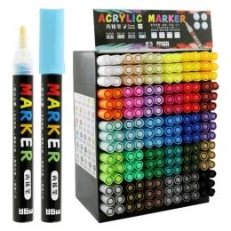 Popisovač M&G Acrylic Marker 2 mm akrylový, displej mix 30 farieb x 6 ks