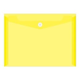 Obal PVC s patentkou priehľadný A4, žltý