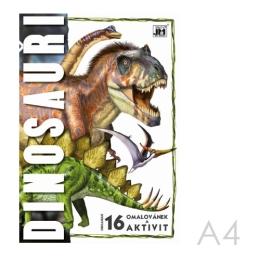 Omaľovánka JM A4 Dinosaury