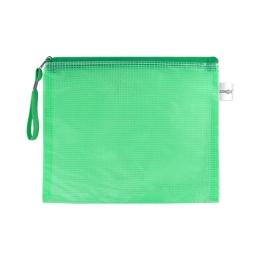 Sieťovaná obálka so zipsom PVC/A5, zelená