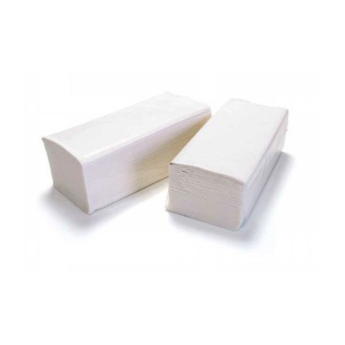 Papierové utierky ZZ, 23x21 cm, biele /3000ks/