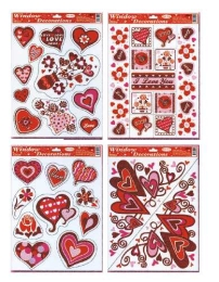 Adhézna nálepka  Valentín STVGr-1001 ABCD 1+1 zdarma!