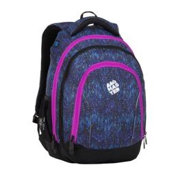 Študentský batoh SUPERNOVA 8 A BLACK/BLUE/PINK