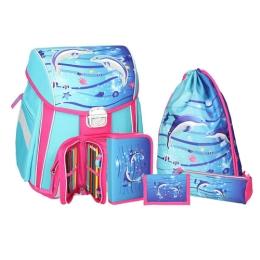 Školská taška - 5-dielny set, START Dolphins