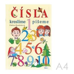 Omaľovánka A4 Litera - Čísla kreslíme, píšeme