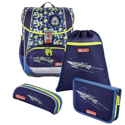 Školská taška - 4-dielny set Step by Step LIGHT 2, Vesmírny Pirát