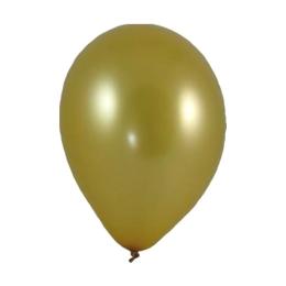 Balón M 25 cm, zlatý /10 ks/