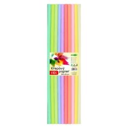 Krepový papier JUNIOR - sada PASTEL 10 ks, 50x200 cm