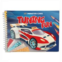 Kreatívna omaľovánka Monster Cars + kreatívne fólie