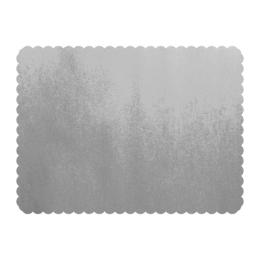 Podložky lepenkové 30x40 cm - strieborné, 25 ks