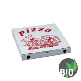 Krabica na pizzu z vlnitej lepenky 24 x 24 x 3 cm, 100 ks
