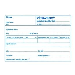Výdavkový pokl. doklad pre podv. účt. A6 (897)