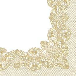 Obrúsky PAW L 33X33cm Royal Lace Frame Gold