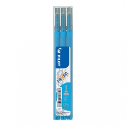 Pilot Frixion Erasable Gel Ink Refill 3 Pack Light Blue