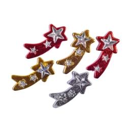 Dekoracia hviezdy drevené mix farieb, sada 5 ks