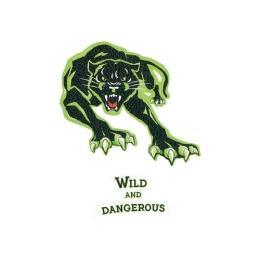 Sticker na tašku Panther, sada 2 ks