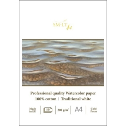 SMLT Skicár na akvarel - profesionálny A4, 300g, 10 l