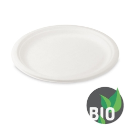 Tanier okrúhly BIO cukrová trstina 26 cm, 50 ks