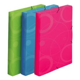 Box na spisy s gumou A4, Neo Colori modrý