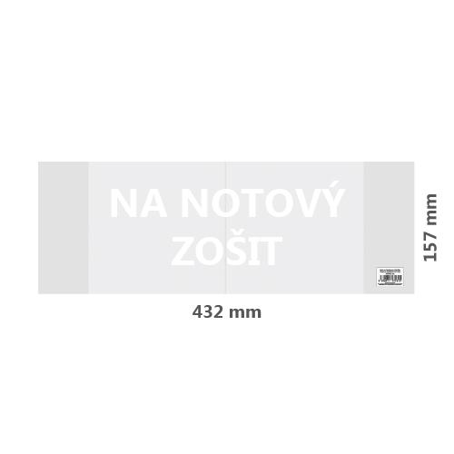 Obal na notový zošit PVC 432x157 mm, hrubý/transparentný, 1 ks