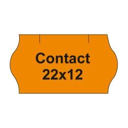 Etikety cen. CONTACT 22x12 oblé - 1500 etikiet/kotúčik, oranžové