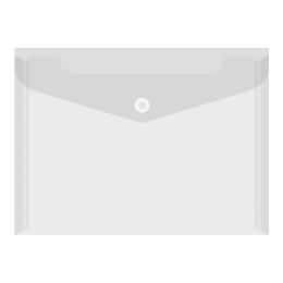 Obal PVC s patentkou priehľadný A4, transparentný