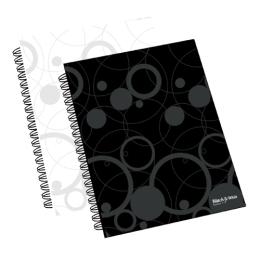 Blok linajkový so špirálou College A4/60 list., biely (Black&White)