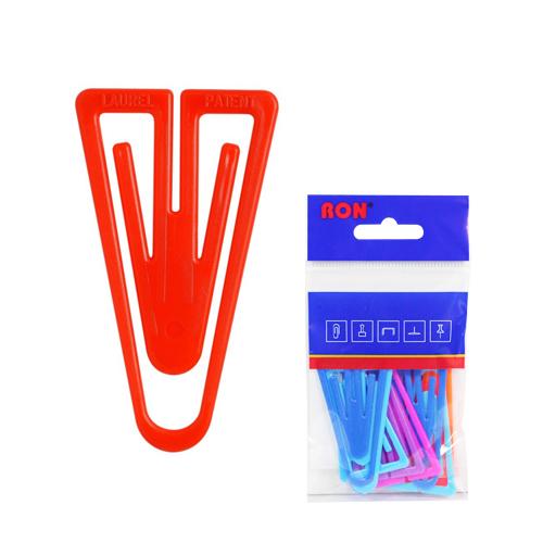 Listové spony plastové 624, tvar V, 60 mm (10ks)