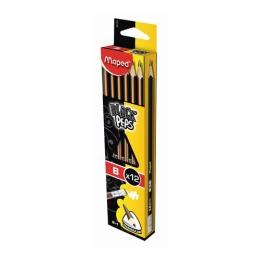 "Ceruzka grafitová MAPED ""BLACK'PEPS"" B s gumou 1ks"