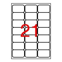 Etikety, univerzálne, 63,5x38,1 mm, zaoblené rohy, APLI, 2100 etikiet/bal