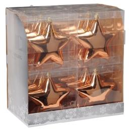 Vianočná ozdoba - PP medená - hviezda 15 cm, 1ks