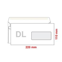 Obálka DL 110x220 mm samolepiaca, s okienkom, 50 ks