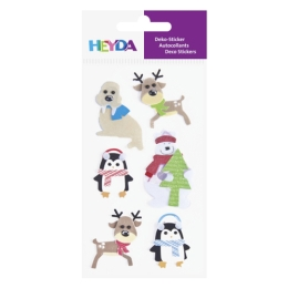 Vianočné etikety Mix - Vianočné zvieratká