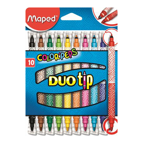 """Fixy MAPED """"COLOR`PEPS DUO TIP"""", 10 ks"""