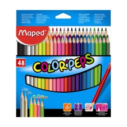 "Pastelky trojhranné MAPED ""COLOR`PEPS"", 48 ks"