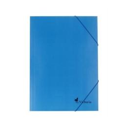 Doska s gumičkou, kartónová, A4, VICTORIA, modrá