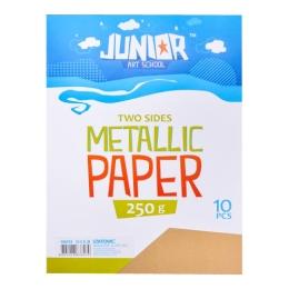 Dekoračný papier A4 Metallic zlatý 250 g, sada 10 ks