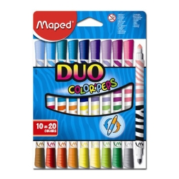 "Fixy MAPED ""COLOR`PEPS DUO"", 10 ks = 20 farieb"