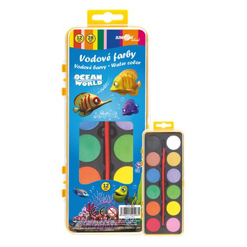 Farby vodové Ocean World - 12 farieb/28 mm