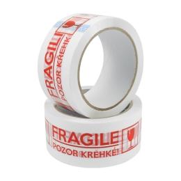 Lepiaca páska 48 mm x 66 m - potlač Fragile/Krehké!