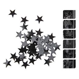 Dekoračné konfety 50g - čierne, mix/1ks