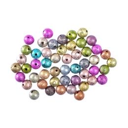 Dekoračné korálky perleťové  mix farieb, sada 50 ks