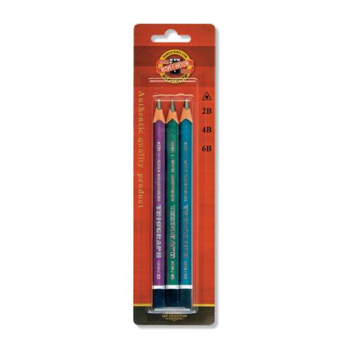 Ceruzka grafitová KOH-I-NOOR 2B,4B,6B, sada  3 ks