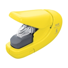 Plus Paper Clinch Stapler mini 106AB (6 sheet) yellow