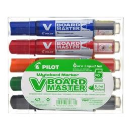 """Popisovač na tabule, 2,3 mm, kuželový, PILOT """"V-Board Master"""",5ks sada"""