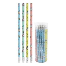 Ceruzka grafitová HB s gumou Unicorn, mix/4 dizajny