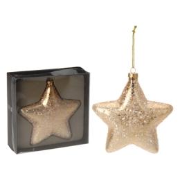 Vianočná ozdoba - PP zlatá, hviezda 15 cm, 1ks