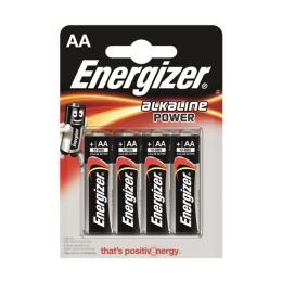 "Batérie, AA ceruzkové, 4 ks, ENERGIZER ""Alkaline Power"""